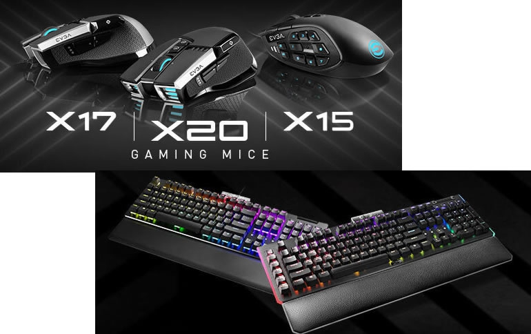 EVGA Announces EVGA Z20/Z15 Series Gaming Keyboards and X20/X17/X15 Mice