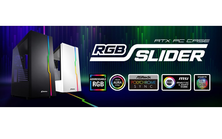 Sharkoon RGB Slider White | Compact ATX Case with Extensive Installation Options