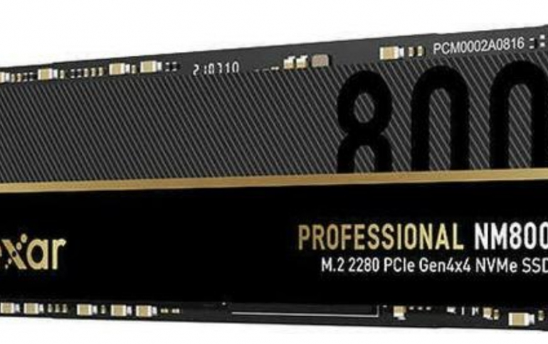 Lexar introduces NM800 SSDs, feature read/write speeds of up to 7.4GB/s and a graphene heat spreader.