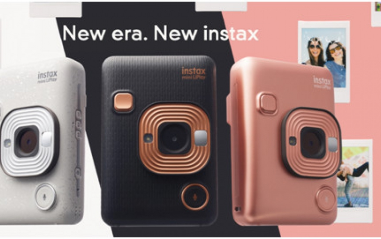 "New Fujifilm ""instax mini LiPlay"" Instant Camera Comes With Sound-recording Capability"