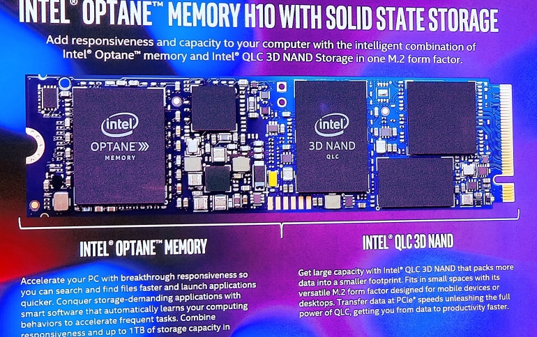 Intel Optane Hybrid Memory H10 Packs 3D XPoint and QLC 3D NAND Memory