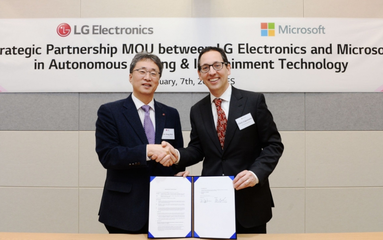 LG to Employ Microsoft Azure Technology to Advance its AI-Driven Vehicle Strategy