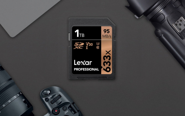 Lexar Unveils 1TB 633x SDXC UHS-I Card For DSLRs and HD Camcorders