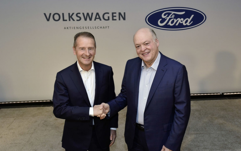 Ford, Volkswagen Extend Alliance to Electric, Self-driving Vehicles