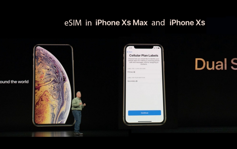 AT&T Now Supports eSim  for iPhone XS and XR