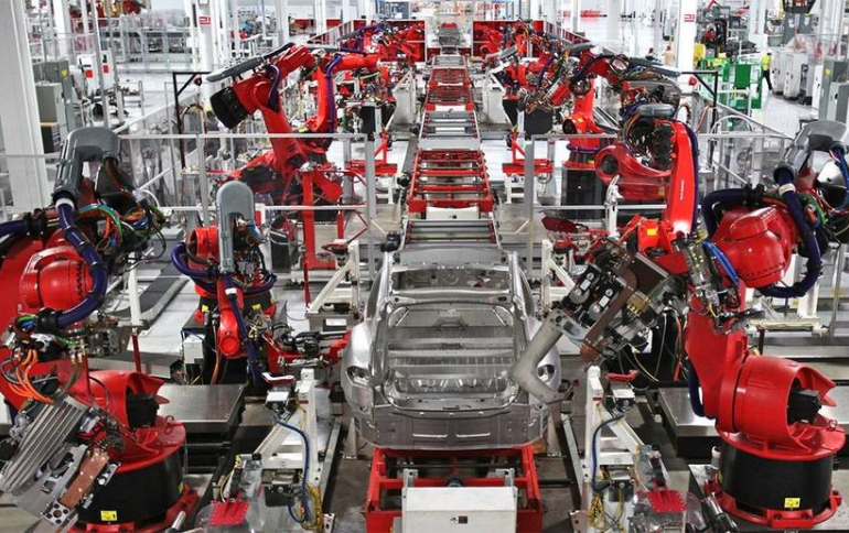 Tesla Patents Augmented Reality System for Manufacturing