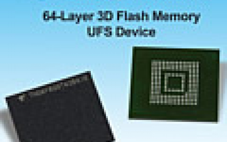Toshiba Unveils UFS Devices Based on 64-Layer, 3D Flash Memory