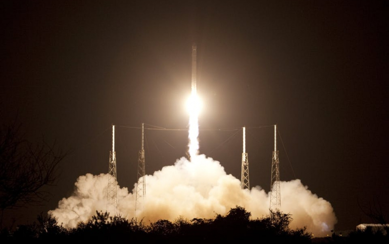 SpaceX Launches Satellites From California Air Base