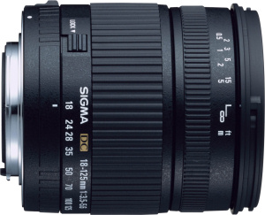 Sigma's 18-125mm F3.5-5.6 EX DC lens. Courtesy of Sigma, with modifications by Michael R. Tomkins.